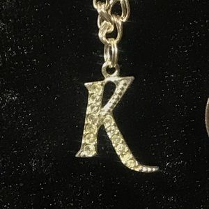Jewelry - Sterling Silver K Initial Charm Bracelet